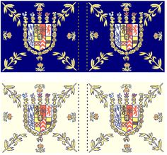 War of the Spanish Succession  Electoral Palatine  Electoral Palatine Leibregiment  (and probably the standard company flag for all regiments excepts Guard Grenadiers)