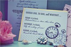 Alice in Wonderland Wedding Theme invitations