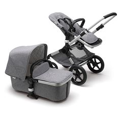 Buy Bugaboo Fox Classic Complete Pushchair, Grey Melange from our Pushchairs & Prams range at John Lewis & Partners. Bugaboo Bee, Maxi Cosi Cabrio Fix, Kids Seating, Black Wheels, Baby Store, Black Faux Leather, Bassinet, Baby Car Seats, Modern