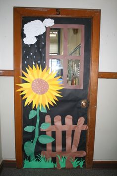 Door to classroom was changed for the season. Adding a snowman, pumpkins, or a bunch of flowers.
