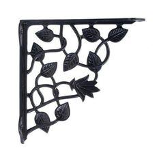 BLACK CAST IRON SHELF BRACKET