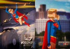 DESPOP ART & COMICS: Exploring Supergirl... as a girl before she reaches awesomeness!