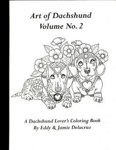 Art du teckel Coloriages livre Volume n 2 physique par ArtByEddy