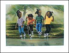 African American Art | Home / Black Art Prints / African-American Children