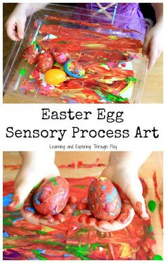 Easter Egg Process Art Cards - Easter Preschool Activities