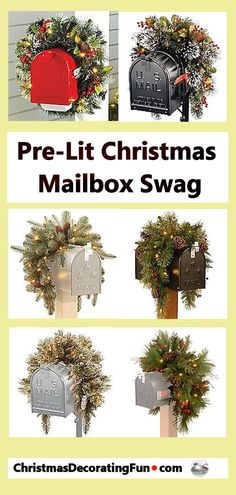 A Pre-Lit Christmas Mailbox Swag adds a Christmas holiday touch to your mailbox. The realistic branches are decorated with lights and pine cones that will really show off your mailbox in true Christmas holiday fashion. Country Christmas, Christmas Home, Christmas Holidays, Christmas Wreaths, Mailbox Swag Christmas, Winter Wreaths, Christmas 2019, Christmas Ideas, Christmas Gift Guide