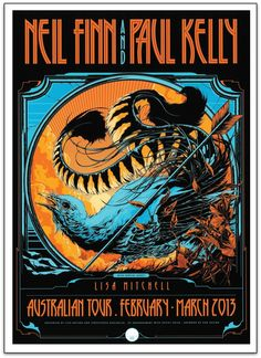 Ken Taylor Paul Kelly and Neil Finn Australia 2013 Tour Poster Tour Posters, Band Posters, Music Posters, Event Posters, Cool Poster Designs, Design Posters, Ken Taylor, Gorgeous Movie, Paul Kelly