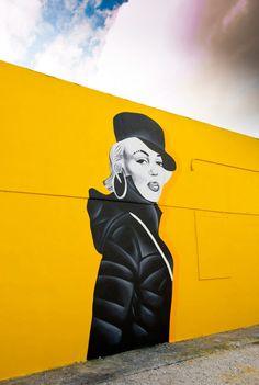 Steve Kirill's 'Missy Monroe', Wynwood, Miami http://blog.everlasting-star.net/2013/12/art-and-photography/when-missy-met-marilyn/