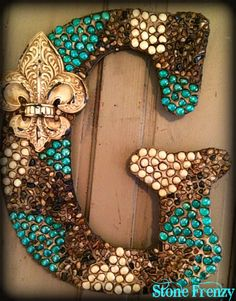 Custom made Monogram Letters! They make great gifts! #monogramletters #uniquegifts #homedecor #personalizedgifts #decor www.stonefrenzy.com