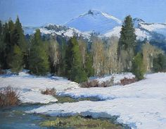 Remnants of Winter by Kathleen Dunphy Oil ~ 11 x 14 $2400 available