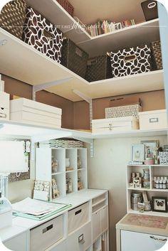 Studio Tour with Keisha Campbell - Craft Storage Ideas Interior Inspiration, Room Inspiration, Closet Turned Office, Scrapbook Storage, Scrapbook Rooms, Home Command Center, Craft Storage, Storage Ideas, Sewing Rooms