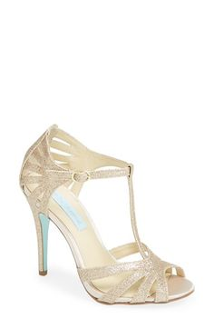 Blue by Betsey Johnson 'Tee' Sandal (Women) | Nordstrom LOVE THESE SHOES!!! Champagne or silver! And something blue!