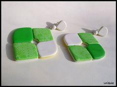 Mojito earrings, polymer clay
