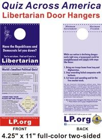Libertarian Party platform 2012. ~ What we believe and why. When you're ready to abandon the fake choice between the two greater evils, we'll be waiting for you.