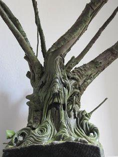 clay ,tree,wood,sculpture  Simona Cornacchia