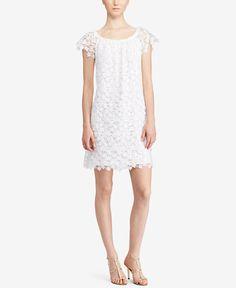 Lauren Ralph Lauren Lace Off-The-Shoulder Dress