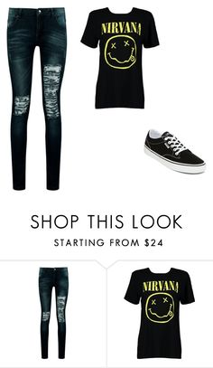 """""""Untitled #442"""" by ootori5sos on Polyvore featuring Boohoo and Vans"""