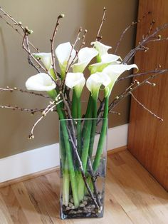 Calla Lillies and Branches
