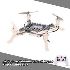 Hot Sale XG171 DIY Building Block Drone Height Hold Clip Quadcopter Toys I8Q6