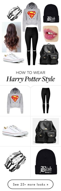 """""""Audrey Hart #19"""" by aceultimatepink on Polyvore featuring Converse, Coach, women's clothing, women, female, woman, misses and juniors"""