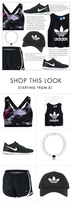 """""""Day #21: sport outfit"""" by makenziethedancer ❤ liked on Polyvore featuring We Are Handsome, Madewell, NIKE, Everest and Topshop"""