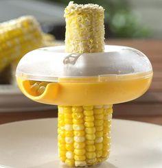 Corn kerneler Stripper Steel cutter spinner remover salad container kitchen peel - $9.99