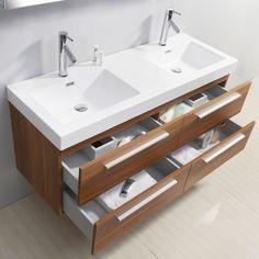 Virtu USA Finley 54-Inch Double Sink Bathroom Vanity Set