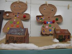 Gingerbread men and houses