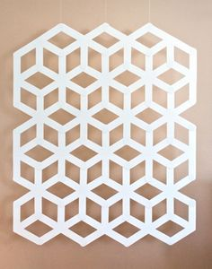 geometric backdrop / Ambrosia Creative (made with large white Popsicle sticks? Cake Table Backdrop, Diy Backdrop, White Backdrop, Backdrops, Geometric Cake, Geometric Wedding, Geometric Shapes, Geometric Patterns, Popsicle Stick Crafts