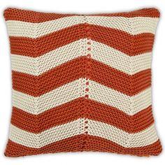 Chevron Rust Cushion