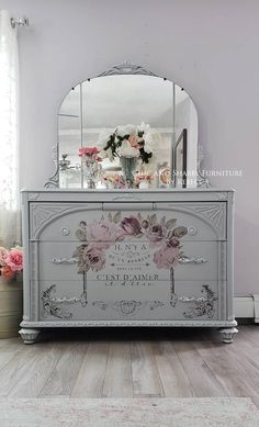 """Awesome """"shabby chic furniture diy"""" info is available on our internet site. Read more and you will not be sorry you did. Decoupage Furniture, Refurbished Furniture, Paint Furniture, Upcycled Furniture, Shabby Chic Furniture, Furniture Projects, Furniture Makeover, Vintage Furniture, Rustic Furniture"""
