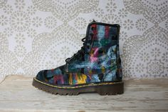 Grunge Abstract Painterly Velvet Dr /Doc Martens I need to find these in my size