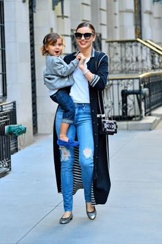 Outfit inspiration from Miranda Kerr's best street style looks.