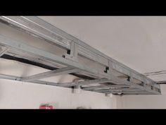 короб из гипсокартона для натяжного потолка, усиленный. Plasterboard installation. - YouTube