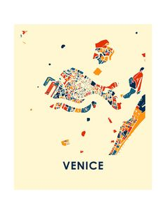 Design Thinking, Venice Map, Italy Map, Abstract City, Street Graffiti, City Maps, Map Design, Map Art, Word Art