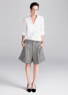 Bermuda alfaiataria e camisa
