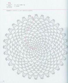 Crochet and arts: Lacework Floral Design Asahi 2 Crochet Doily Diagram, Crochet Doily Patterns, Thread Crochet, Crochet Motif, Crochet Doilies, Crochet Flowers, Crochet Stitches, Knit Crochet, Crochet Circles