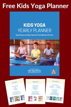 Kids Yoga Planner 2018 - download this free kids yoga resource to help with your kids yoga yearly planning! | Kids Yoga Stories