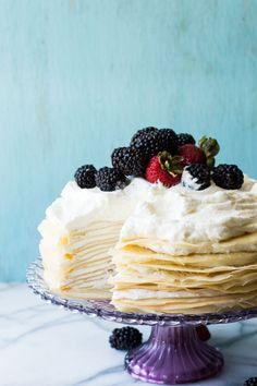 whipped lemon mascarpone cream filling is layered with lightly ...