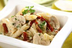 Rurki w sosie pieczarkowym z suszonymi pomidorami - VIDEO Pasta Salad, Potato Salad, Potatoes, Ethnic Recipes, Food, Crab Pasta Salad, Potato, Meals, Noodle Salads