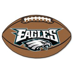 Philadelphia Eagles Touchdown Football Area Rug