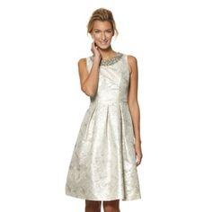 No. 1 Jenny Packham Designer metallic jacquard prom dress- at Debenhams.com
