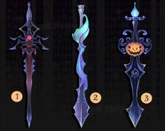 Adoptable Weapon Halloween swords set 1 CLOSED by Forged-Artifacts.deviantart.com on @deviantART