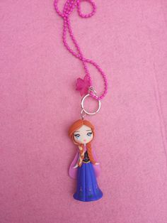 Anna Necklace the frozen film fimo polymer clay by Artmary2