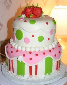 Strawberry shortcake CUTE!!!   I LOVE IT!!!  Must make!!  or should I say must Try to make!