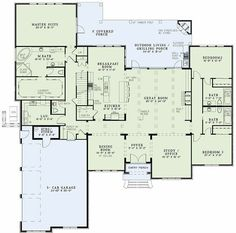 [ Jill Floor Plans Study House Need Master Closet Floors Ranch Style Open Plan Friv Games ] - Best Free Home Design Idea & Inspiration House Plans And More, Dream House Plans, House Floor Plans, My Dream Home, Ranch Floor Plans, Open House Plans, House Plans One Story, Story House, Dream Houses
