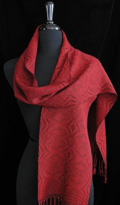 Handwoven Scarf Tencel Scarf  Royal by FiberFusion on Etsy, $118.00