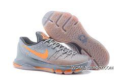 best service a9e57 87f4c Nike KD 8 Wolf Grey Orange Men s Baketball Shoes Super Deals