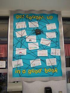Bulletin Board spider web Image Detail for - More bulletin boards---I love bulletin boards :0)