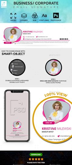 [ Business/ Corporate/ Multipurpose E-Mail Signature Simple And Clean, No Html, Only Creative Design. Typography Design, Logo Design, Graphic Design, Email Signature Templates, Email Signatures, Newsletter Templates, Pinterest For Business, Getting Things Done, Creative Design